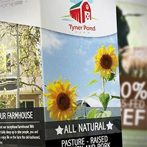 Postcard, flyer or print for Tyner Pond Farm by DesignerAsh