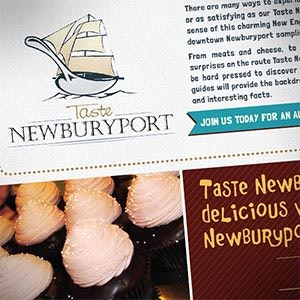 Postcard, flyer or print for Taste Newburyport by zagotz