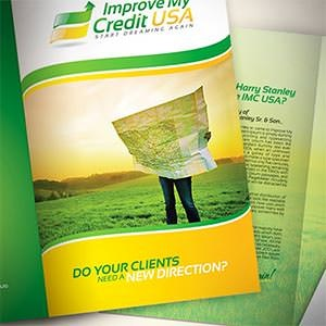 kaart, flyer of print voor Improve My Credit USA door dizenyo