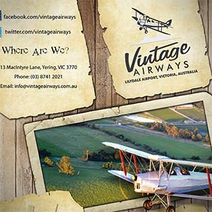 kaart, flyer of print voor Vintage Airways door Rudvan
