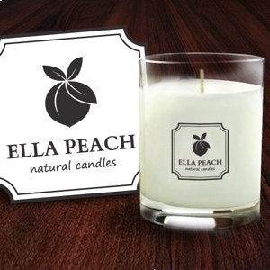 Product packaging for Ella Peach Candle Company by FilipaM