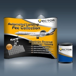 Logo design for Vector Airport Solutions - vector-us.com by dz+
