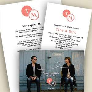 Card or invitation for Tina & Marc by Jelena156
