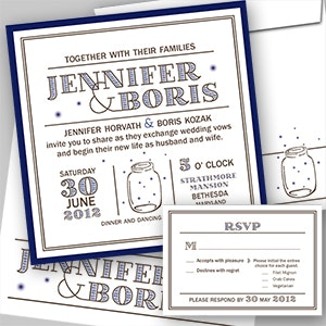 Kaart of uitnodiging voor Jenn and Boris door lu_24