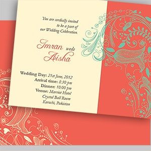Kaart of uitnodiging voor Wedding Invitation Card door Kool27
