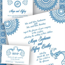 Logotipos para Maya & Jeff Wedding Invitation (Indian Theme) por Caro_79