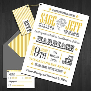Card or invitation for Sage and Jeff's wedding by T o n k a
