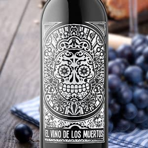 "Productetiket voor Vinos de Los Muertos Winery (""Day of the Dead"" Winery) door manuk"