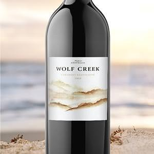 Productetiket voor Wombat Creek Winery door work&turn