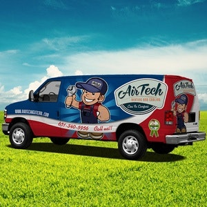 Car, truck or van wrap for Air Tech by