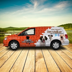 Car, truck or van wrap for Engliton Dog Walker by
