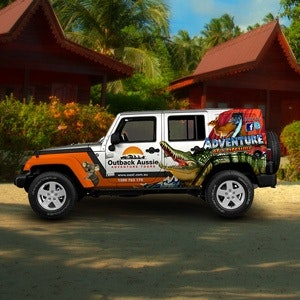 Car, truck or van wrap for Outback Aussie Adventure Tours by syns&graphix