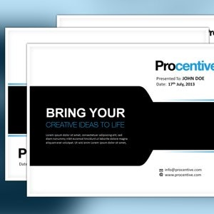 PowerPoint template for Procentive by moinu33cu