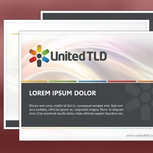 PowerPoint template for United TLD by d design