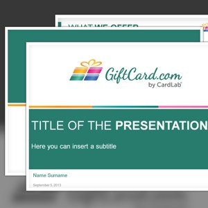 PowerPoint template for Giftcard.com by luaramea