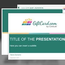 Création de logopour Giftcard.com réalisé par luaramea