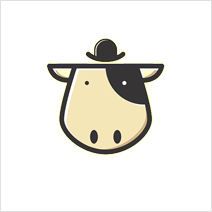 cow with hat