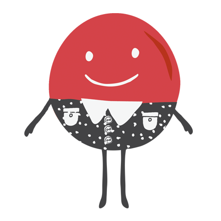 Red candy man