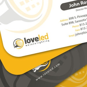 Business card for LOVE LED by irman