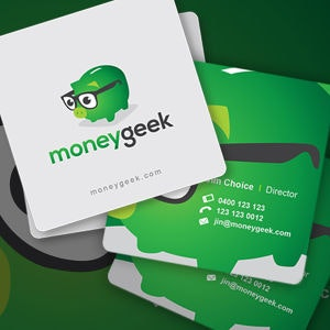 Business card for MoneyGeek by fleabag