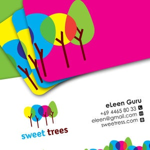 Business card for Sweet Trees by perroverde