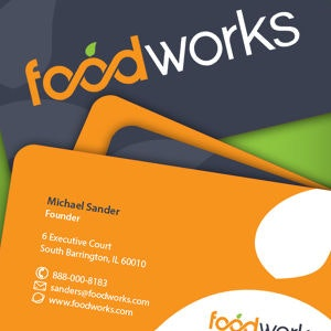 Business card for Foodworks by rozdesignTM