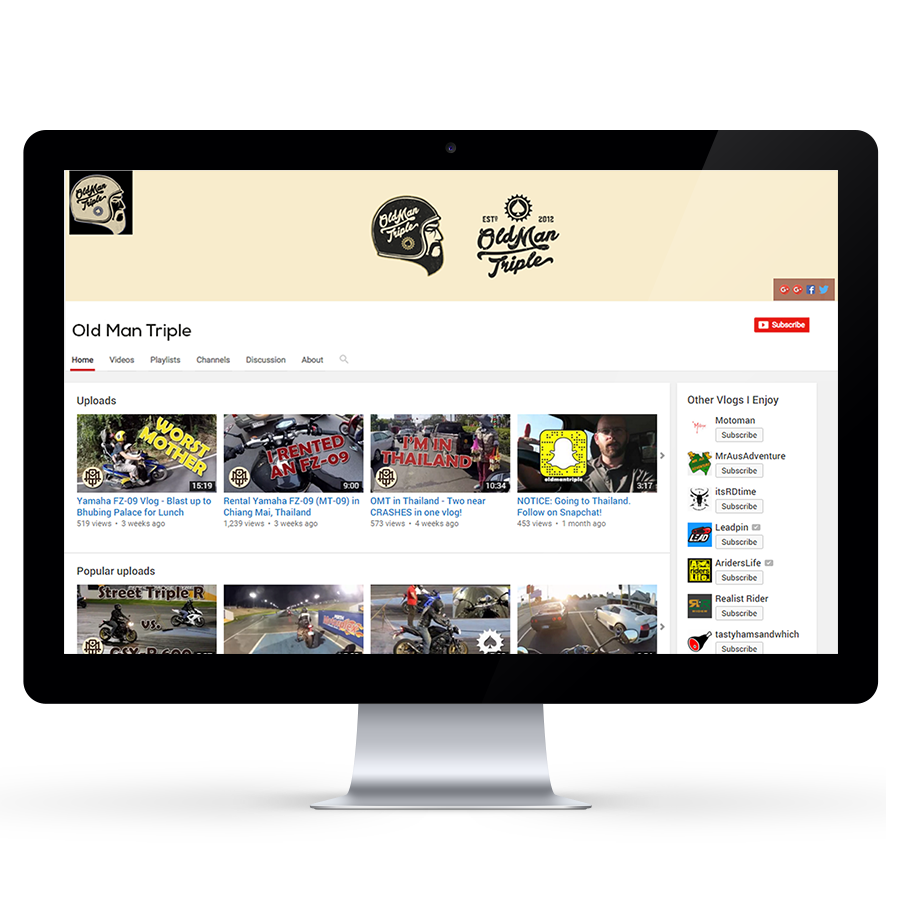 Custom YouTube Channel Design