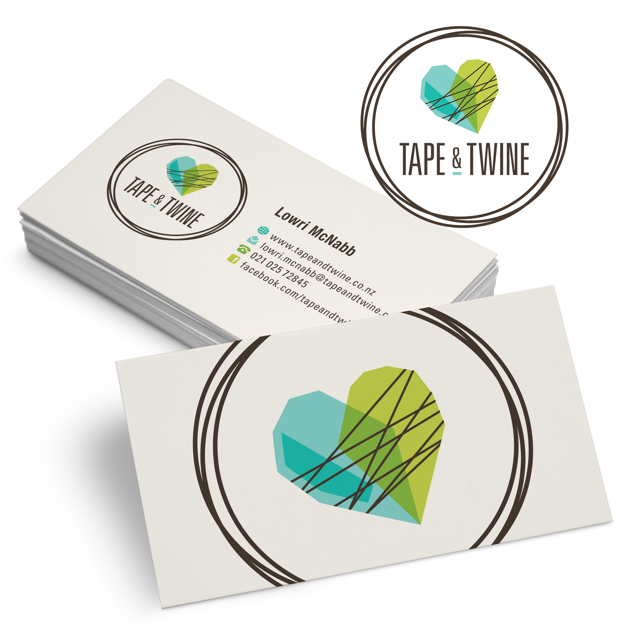 pecasのlogo-business-card-design