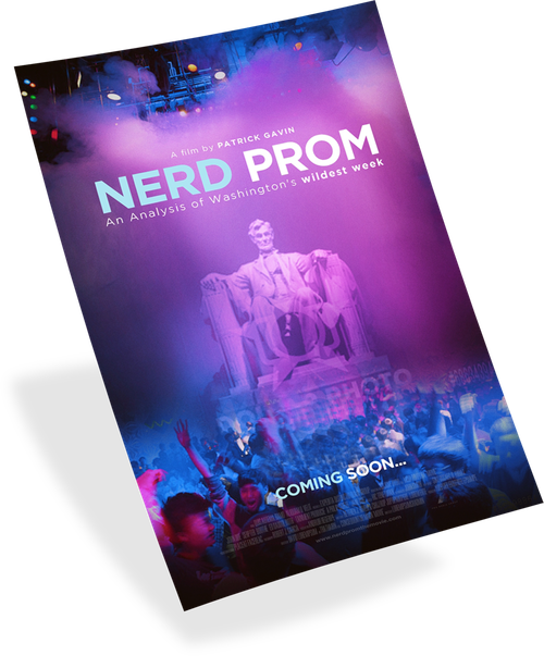 Nerd Prom flyer design