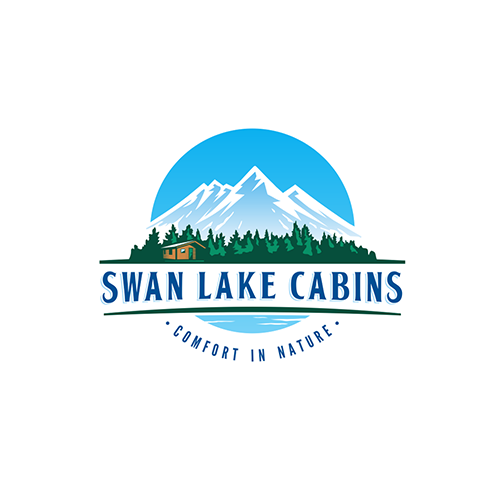 Logo design for Swan Lake Cabins by DSKY