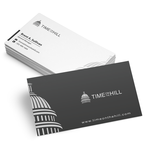 Logo & business card for Time On The Hill by Hermeneutic Æ