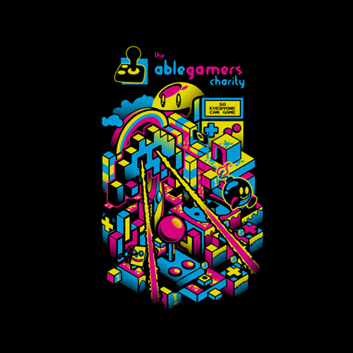 T-shirt for AbleGamers charity by kaleEVA