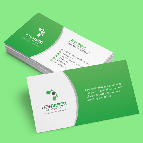 Logo & business card for newvision accounting by Hermeneutic Æ