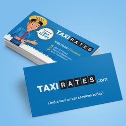 Business card logos get a custom logo for business cards 99designs logo design for taxirates by kendhie reheart