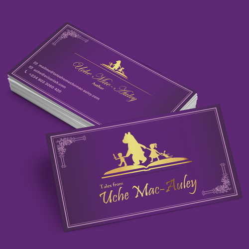Logotipo y tarjeta de visita para Tales from Uche Mac-Auley por GoodEnergy