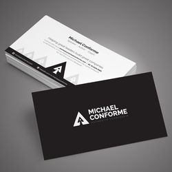 Business card logos get a custom logo for business cards 99designs logo business card logo design for michaelconforme by adwindesign reheart Gallery