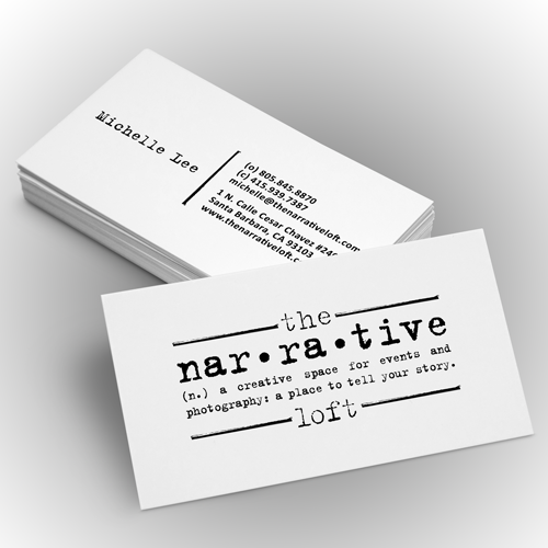 Logotipo y tarjeta de visita para The Narrative Loft por pecas