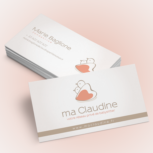 Logo & business card for Claudine, petite maman by málaga-♥