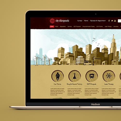 Web page design for City Chiropractic by zigotone