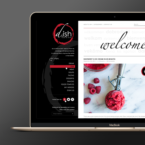 Web page design for dish (www.d-ish.be) by FusionIdea