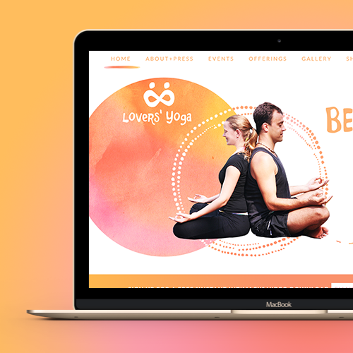 Web page design for www.LoversYoga.com by UndoRedo