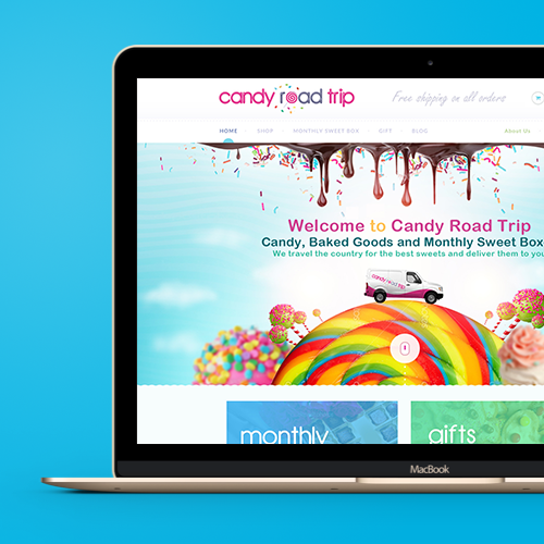 Web page design for Candy Road Trip by Mithum