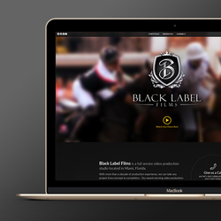 Design de logo para Black Label Films por WebBox