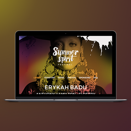 Logo & hosted website for Summer Spirit Festival by extrafin design