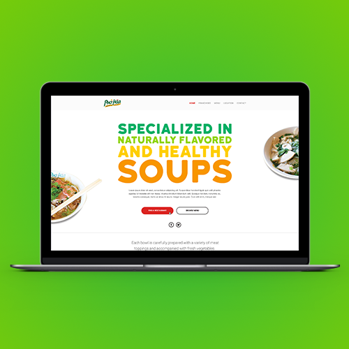 Logo & hosted website for Pho Hoa Noodle Soup by AgustÌn Z