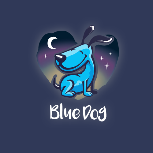 Logo & hosted website for Blue Dog Sitting & Caring by visualcurve