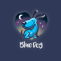 Loghi per Blue Dog Sitting & Caring di visualcurve