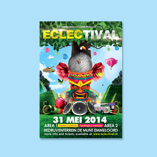 Postcard, flyer or print for Eclectival by yusakagustinus
