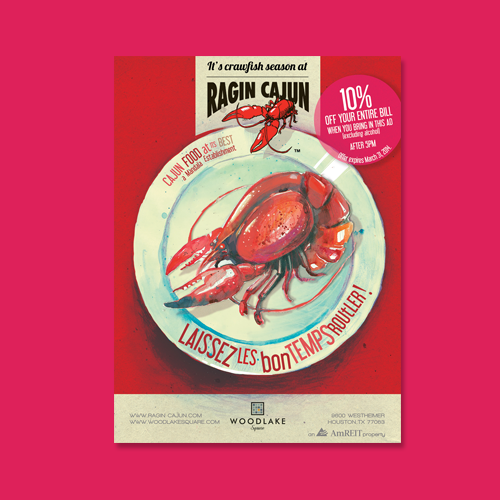 Postcard, flyer or print for Woodlake Square - Ragin Cajun by Evilltimm