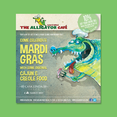 Postcard, flyer or print for Alligator Cafe by Evilltimm